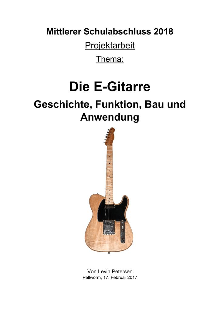 Die E-Gitarre - Schule Pellworm