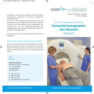 Flyer Computertomographie des Herzens