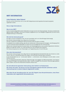 Information MRT - Diagnostik