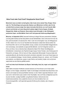 "PM Lifestyle ""Fast Food oder slow Food"""