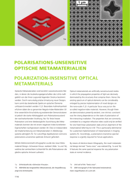 Polarisations-unsensitive optische Metamaterialien