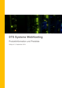 DTS Systeme WebHosting