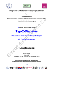 Typ-2-Diabetes - Leitlinien.de