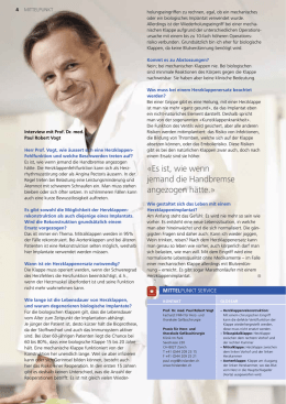 Interview mit Prof. Dr. med. Paul Robert Vogt