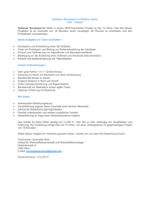 Software Developer C++/Python (m/w)