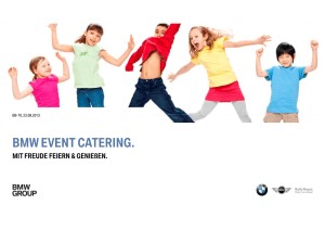 bmw event catering.