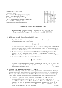 Blatt 9 - Theoretical Physics at University of Konstanz/Theoretische