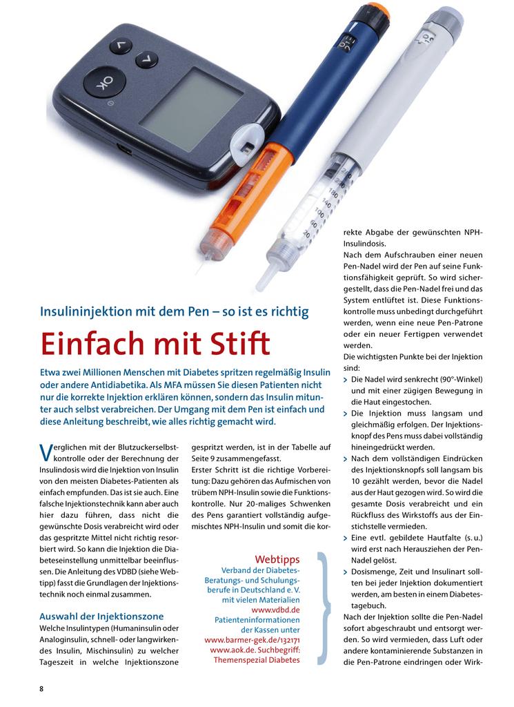 Diabetes einstellung insulin