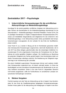 Psychologie - Standardsicherung NRW