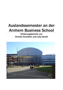 Auslandssemester an der Arnhem Business School