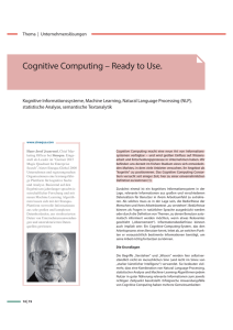 Cognitive Computing – Ready to Use.