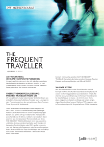 Mediadaten - The Frequent Traveller