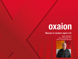 Neues in oxaion open 4.2