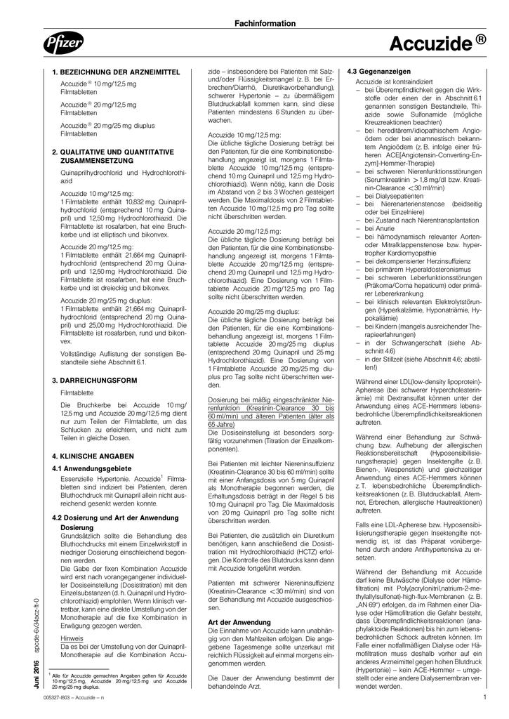 Ansehen/Download von PDF zu Accuzide®®