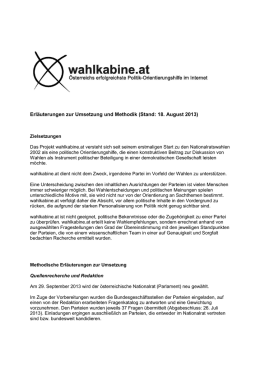 Methodik - wahlkabine.at
