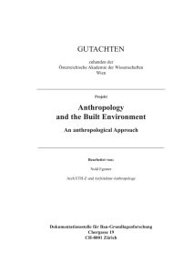 GUTACHTEN Anthropology and the Built Environment