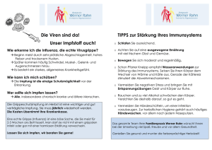 Grippenimpfung – Flyer