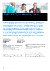 Praktikant Digital Marketing (w/m)