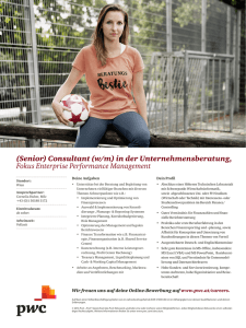 (Senior) Consultant (w/m) in der