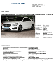 Mercedes-Benz CLA 180 AMG -Line* Night-Paket* Spiegel