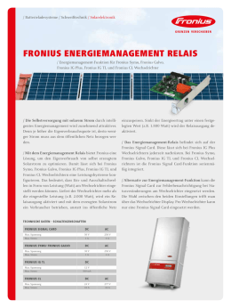 Fronius EnErgiEmanagEmEnt rElais