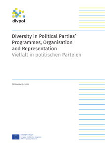 Diversity in Political Parties` Programmes, Organisation