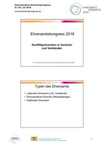 Ehrenamtskongress 2016
