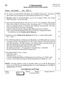 Arbeitsblatt 1 Test 3 2017