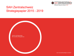 Strategie 2015 - 2019