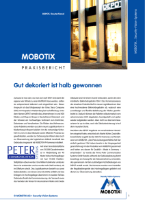 DEPOT Mobotix Praxisbericht - Peter Communication Systems GmbH