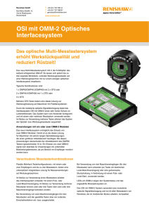 OSI mit OMM-2 Optisches Interfacesystem