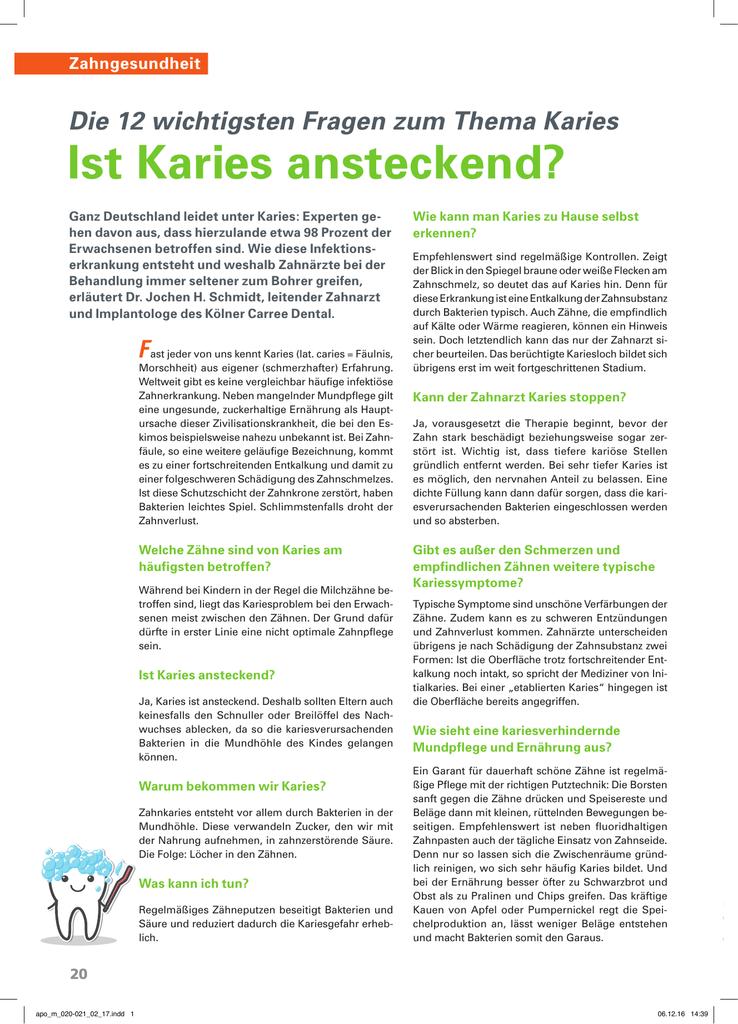 f63e991d9df Die 12 wichtigsten Fragen zum Thema Karies