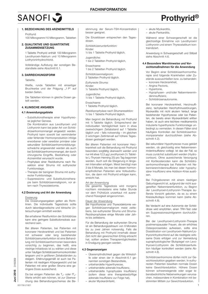 Liothyronin zur Gewichtsreduktion