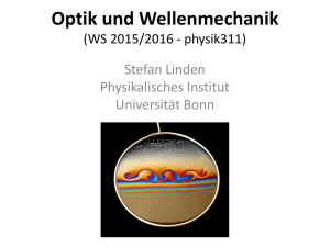 Optik und Wellenmechanik - Nanophotonik