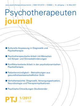 Psychotherapeuten journal