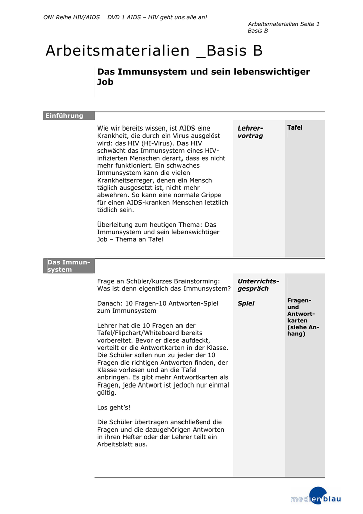Arbeitsmaterialien _Basis B