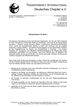 Deutsches Chapter e - Transparency International Deutschland