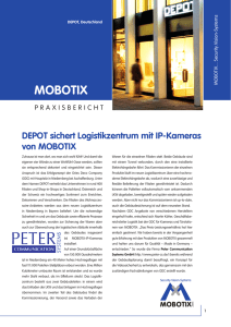DEPOT sichert Logistikzentrum mit IP