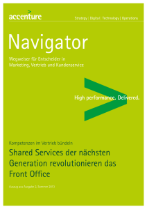 Shared Services der nächsten Generation revolutionieren das Front