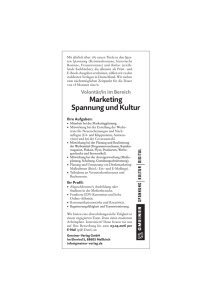 Marketing Spannung und Kultur