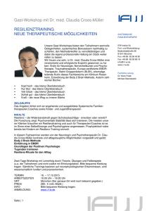 Gast-Workshop mit Dr. med. Claudia Croos