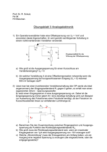 Übungsblatt 3 Analogelektronik