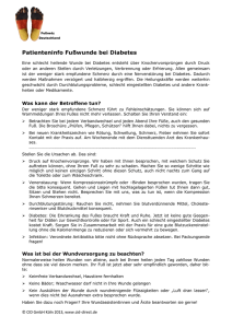 Patienteninfo Fußwunde bei Diabetes
