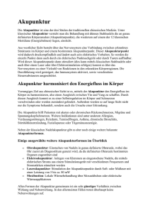 Akupunktur - Ordination Dr. Laber