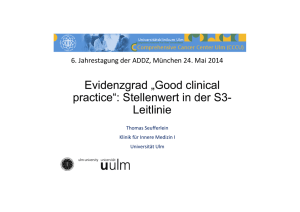 "Evidenzgrad ""Good clinical practice"": Stellenwert in der S3"