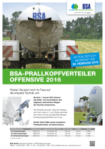 Flyer BSA-PRALLKOPFVERTEILER OFFENSIVE 2016