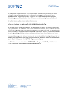 Software Engineer im Microsoft ASP.NET (C#) Umfeld (m