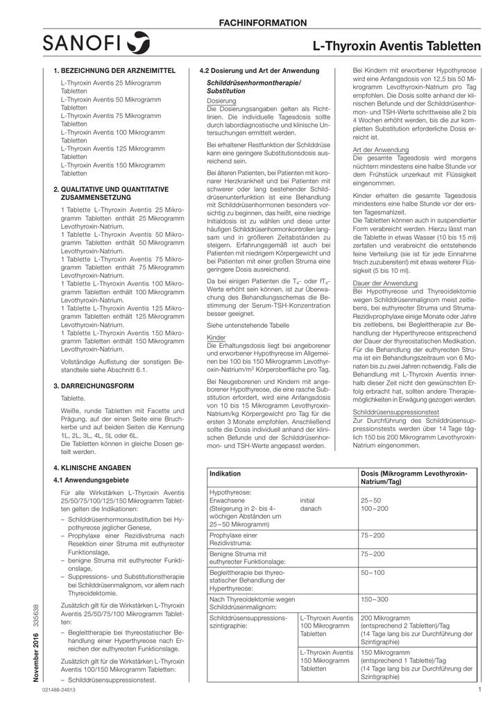 Schilddrüsenhormon zur Gewichtsreduktion