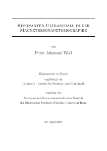 Resonanter Ultraschall in der Magnetresonanztomographie Peter