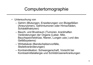 Computertomographie - Informatik